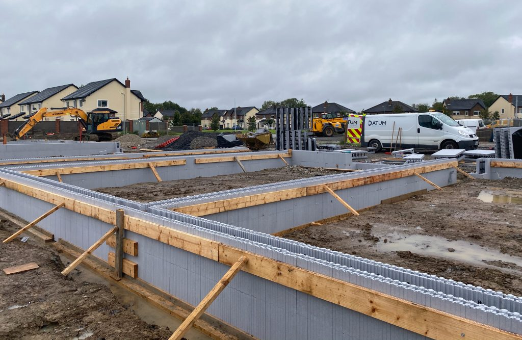 ICF construction - foundations